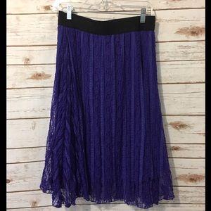 Medium Royal purple lace LuLaRoe Lola skirt